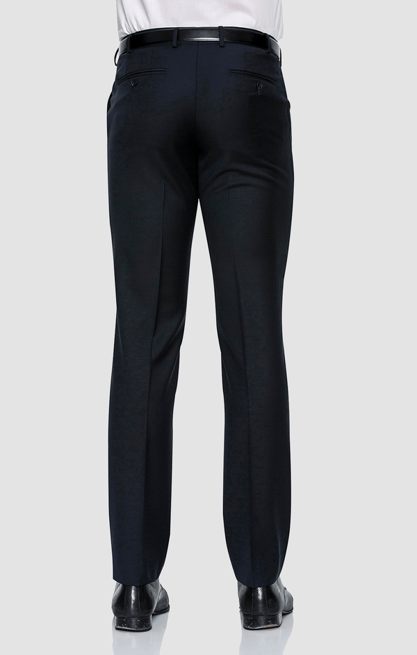 a back view of the cambridge jett suit trouser worn by a model, product code F262