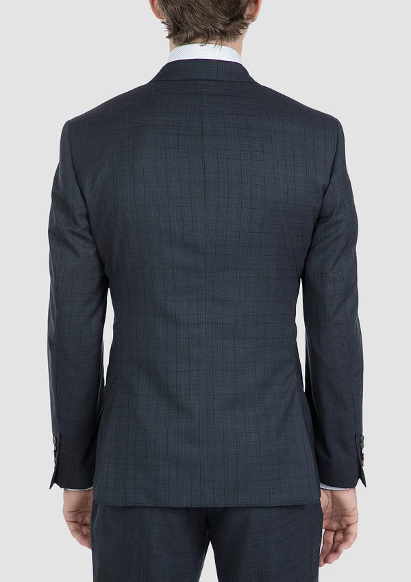 showing the back of the nitro mens suit jacket in navy by gibson FG1610