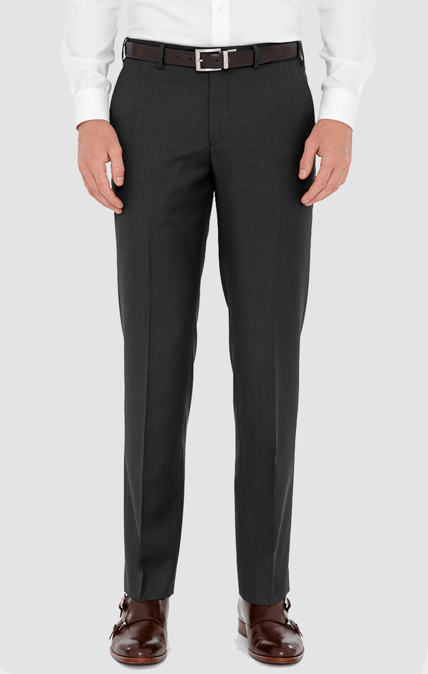 the cambridge classic fit mens jett trouser in charcoal poly wool blend F2042