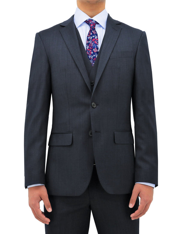the daniel hechter slim fit navy michel suit in pure wool STDH101-11-MICHEL1
