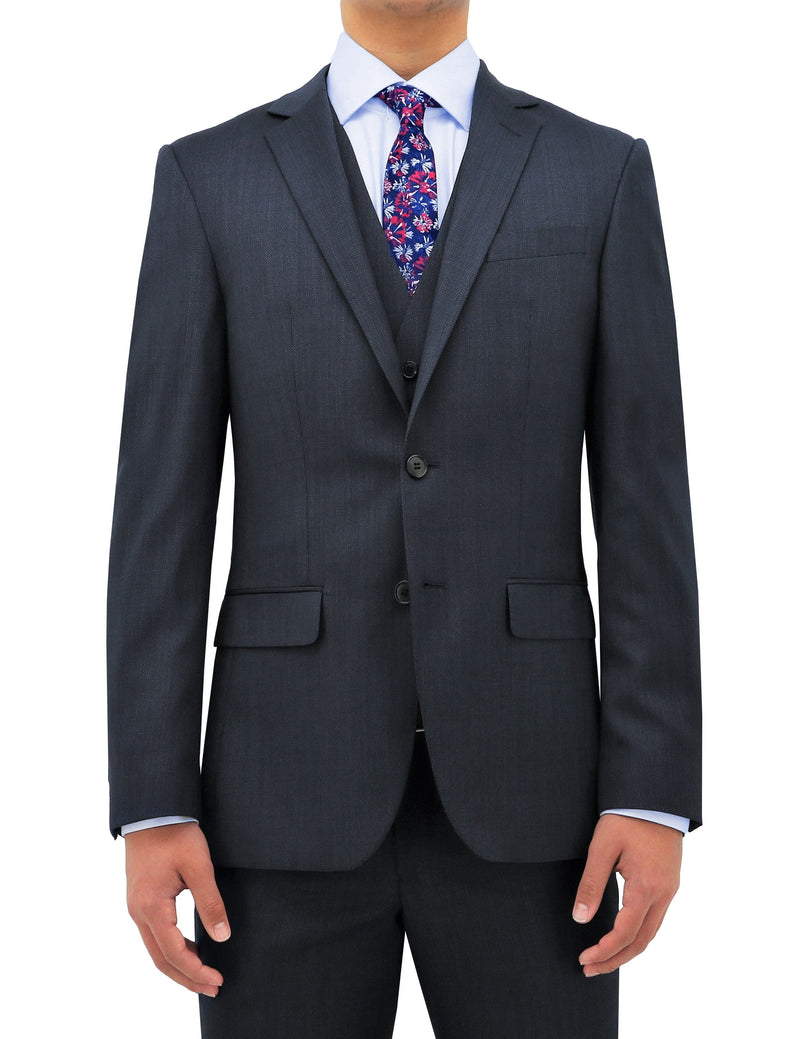 daniel hechter slim fit mens suit vest in navy pure wool DH101-11
