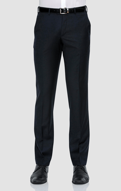 the front of the classic fit cambridge jett mens suit trouser in navy wool blend F262 NAVY