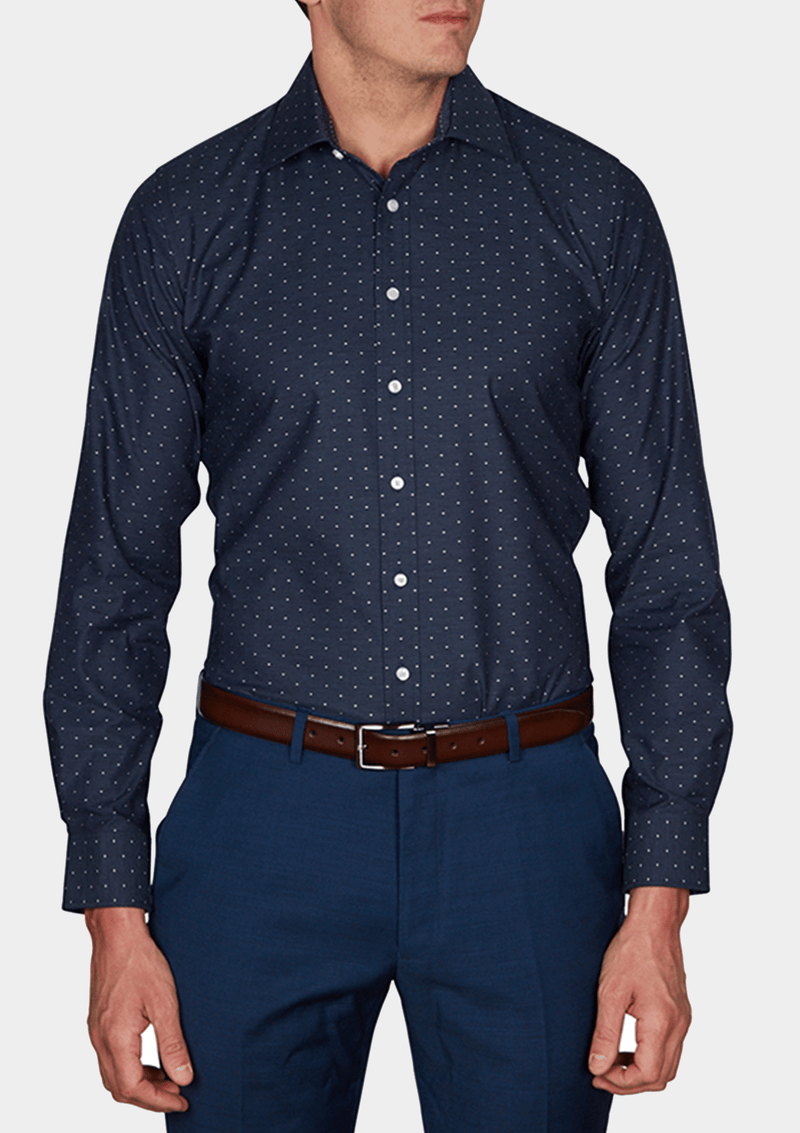 slim fit dobby print mens shirt by jeff banks K102793178.IK