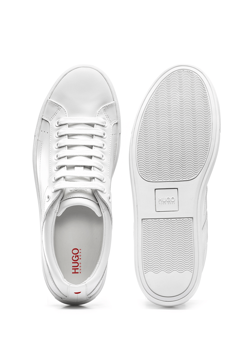 the undersole of the futurism tennis inspired mens casual trainier in white nappa leather 50315601 White