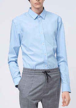 the hugo boss slim fit elisha business shirt in light blue cotton