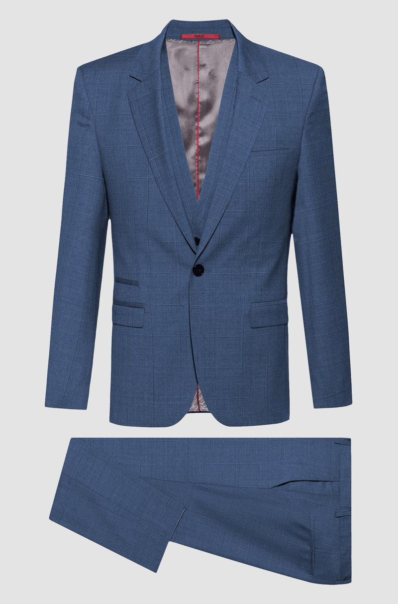 the slim fit hugo boss arti hesten suit in turquoise pure wool 50427352
