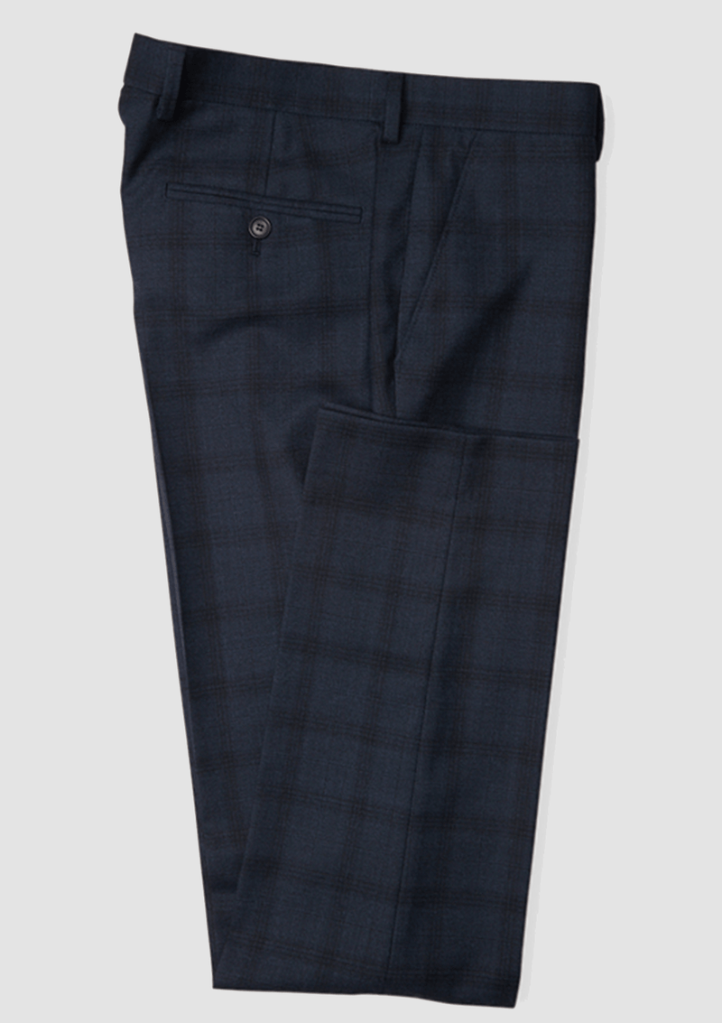 Jeff Banks Slim Fit Ivy League Trousers in Charcoal
