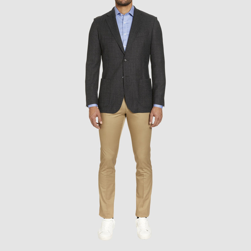 the studio italia slim fit clive sports jacket in charcoal wool  ST-460-41