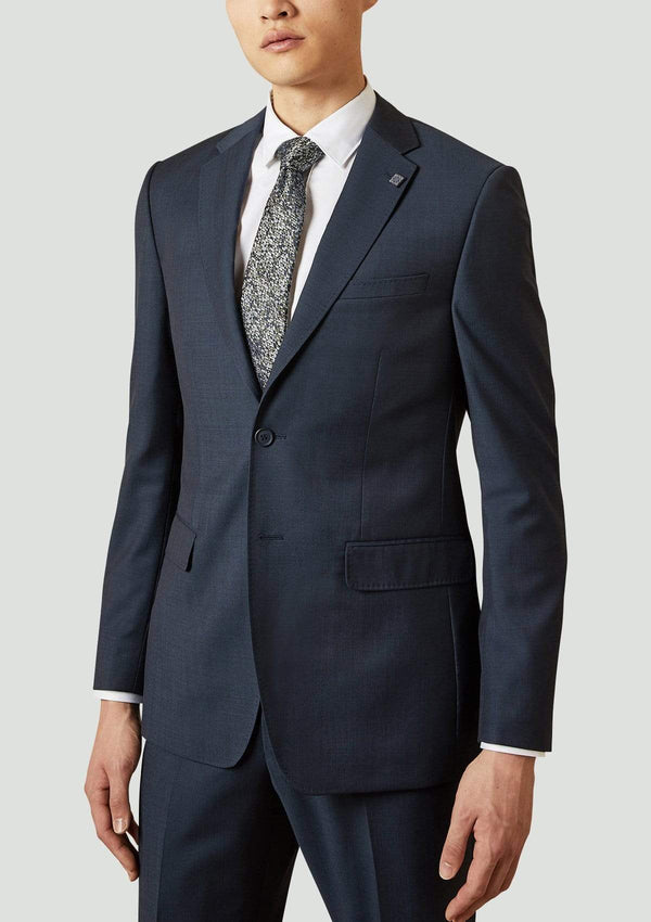 ted baker slim fit elegan mens suit jacket in navy super 100s pure wool 1RL2010