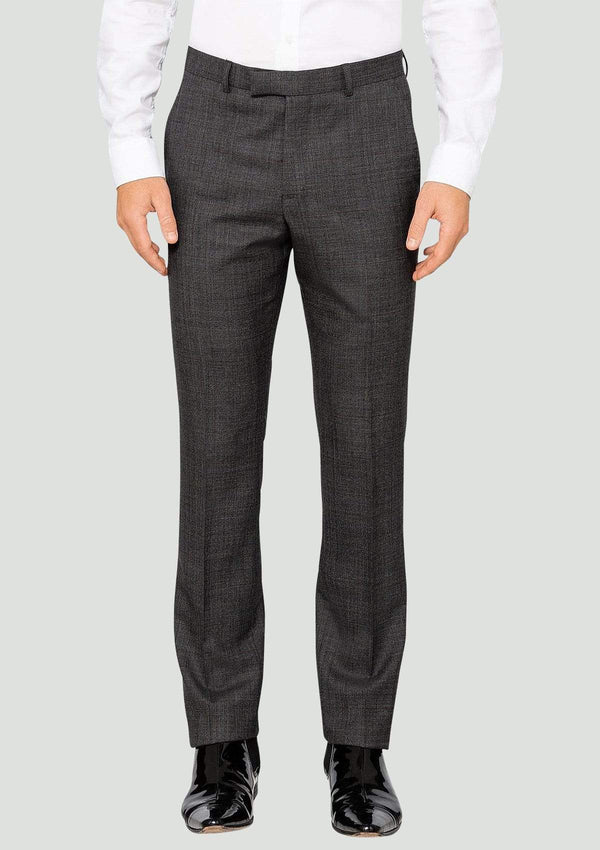Ted Baker slim fit elegan mens suit in charcoal check pure wool