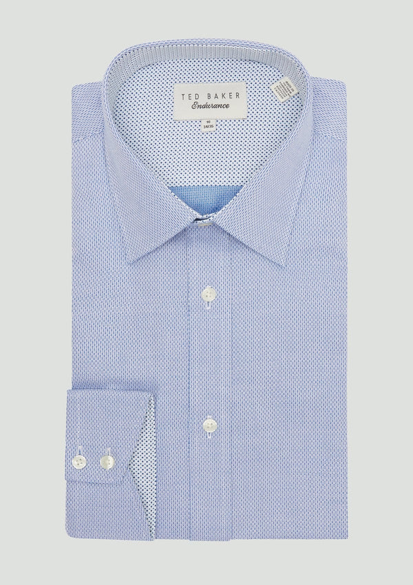 Ted Baker slim fit endurance business shirt in blue cotton