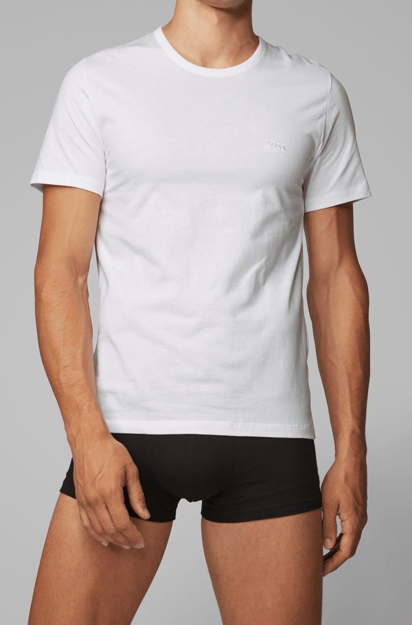 the white slim fit t-shirt from the hugo boss three pack of crew neck mens cotton t-shirts 50325388