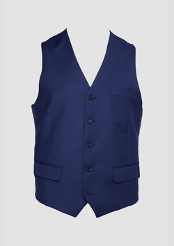 wolf kanat mens suit seperate, the autograf vest in blue pure wool 7WK4236