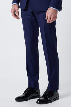 wolf kanat slim fit pure wool mens suit trouser seperate  in blue 7WK4236