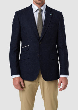 wolf kanat mens sports jacket in navy 8WK9048