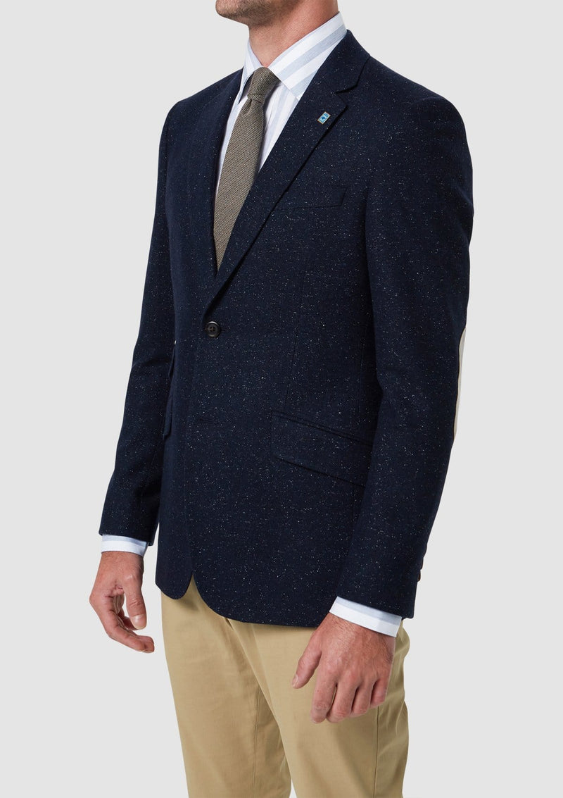 Wolf Kanat classic fit caspian sports jacket in wool and silk blend