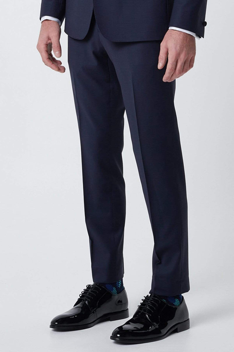 the wolf kanat slim fit spade trouser, the perfect mens suit trouser in quality superfine 120 navy wool 7WK4238