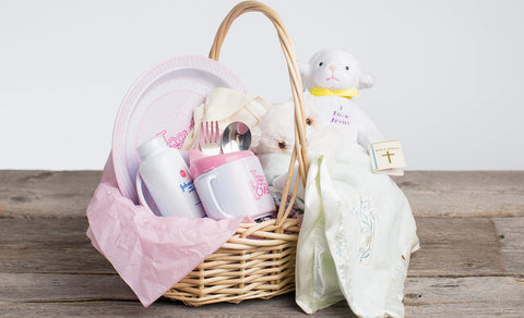 Jesus Loves Me Baby Basket