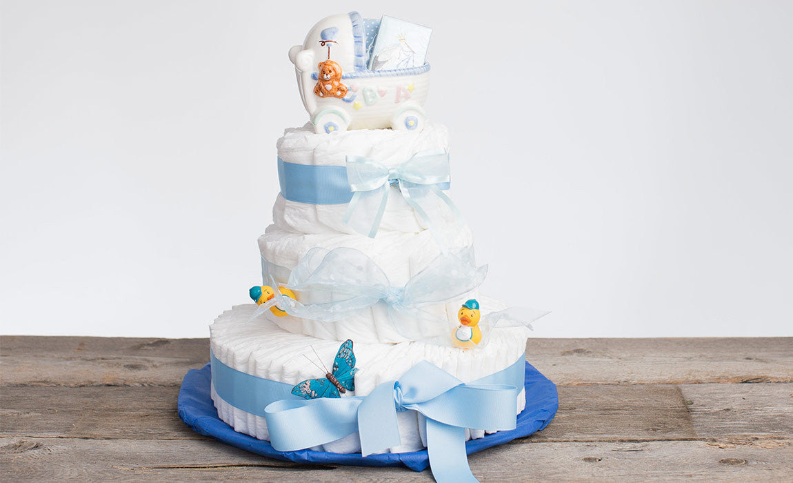 Diaper Cake Baby Boy Angels Dream Gift Baskets