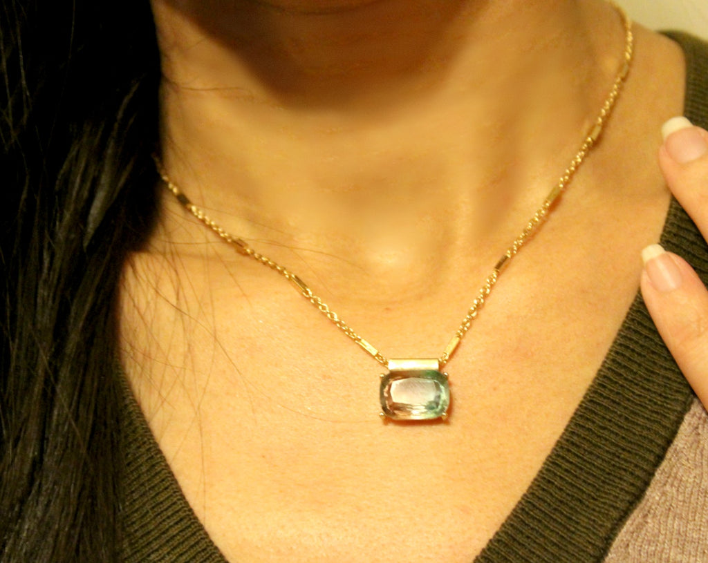 Glass Stone Pendant Necklace - Dear Reverie