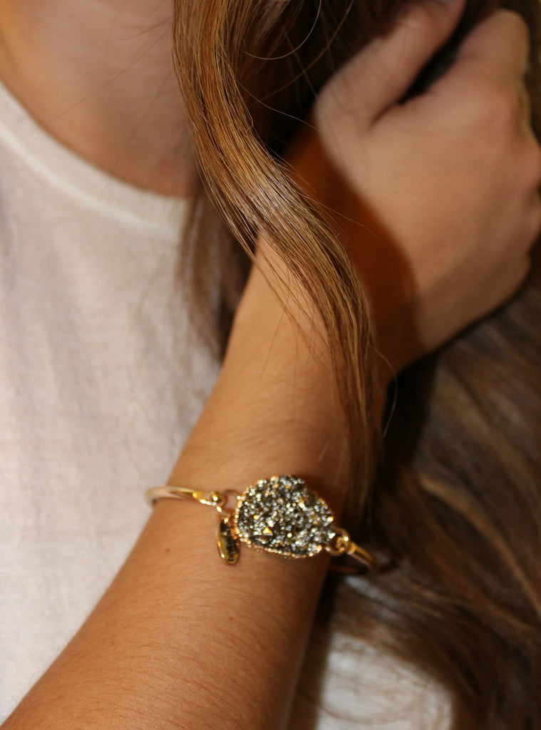 RESTOCK!!! Simulated Druzy Bangle (Available in Rose Gold, Grey, or Black) - Dear Reverie
