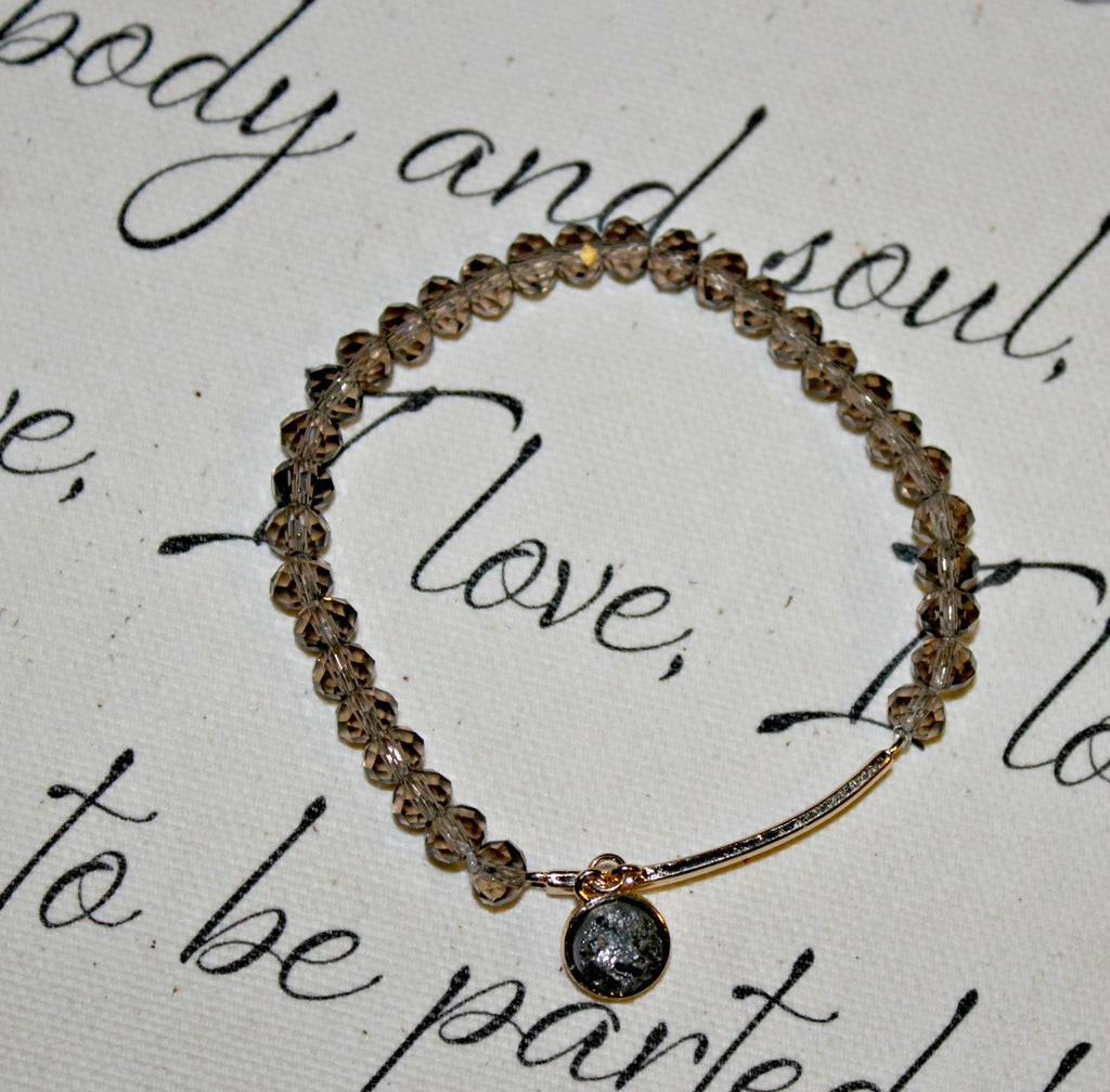 Bar Accent Beaded Stretch Bracelet - Dear Reverie