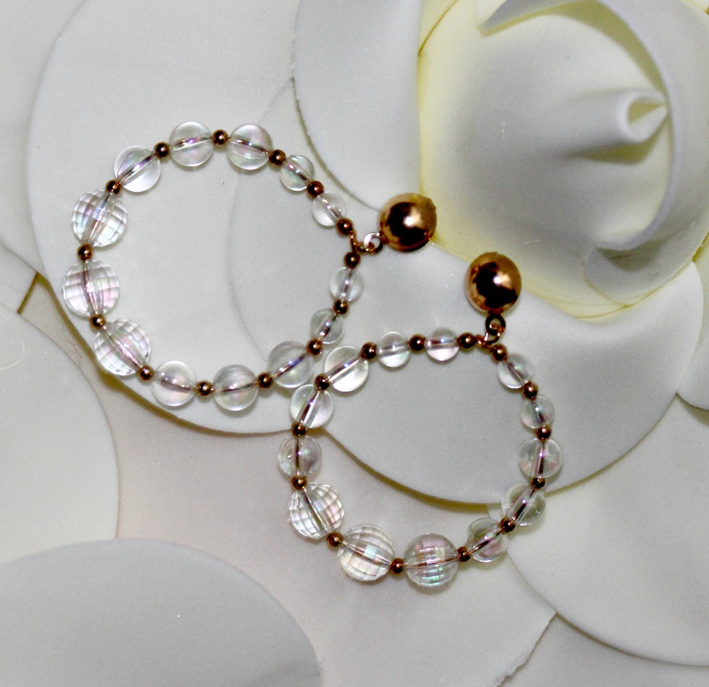 Clear Beaded Hoops - Dear Reverie