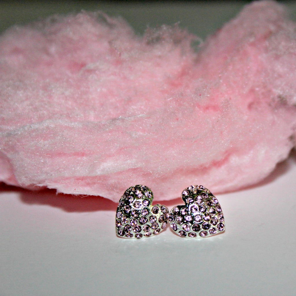Pink or Red Heart Studs - Dear Reverie