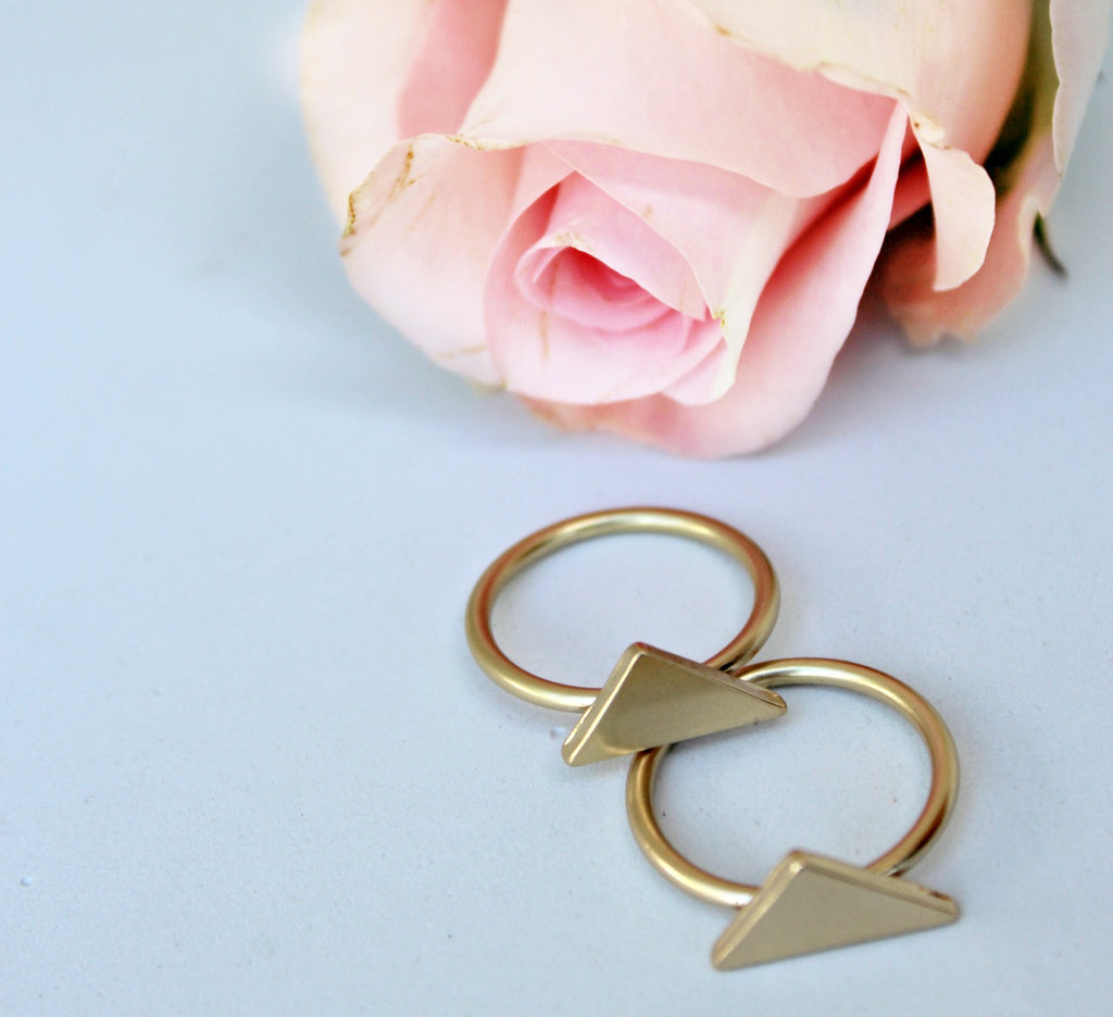 Double Triangle Ring Set - Dear Reverie
