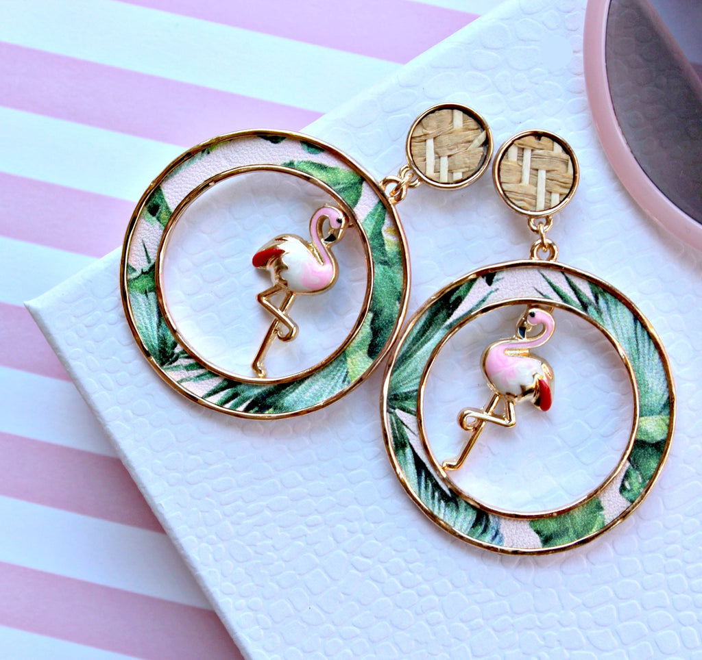 Flamingo Statement Earrings - Dear Reverie