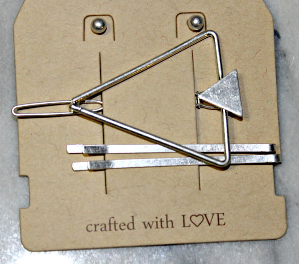 Triangle Outline Hair Pin Set - Dear Reverie