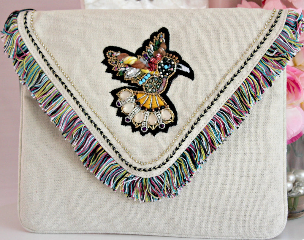 Hummingbird Cotton Clutch - Dear Reverie