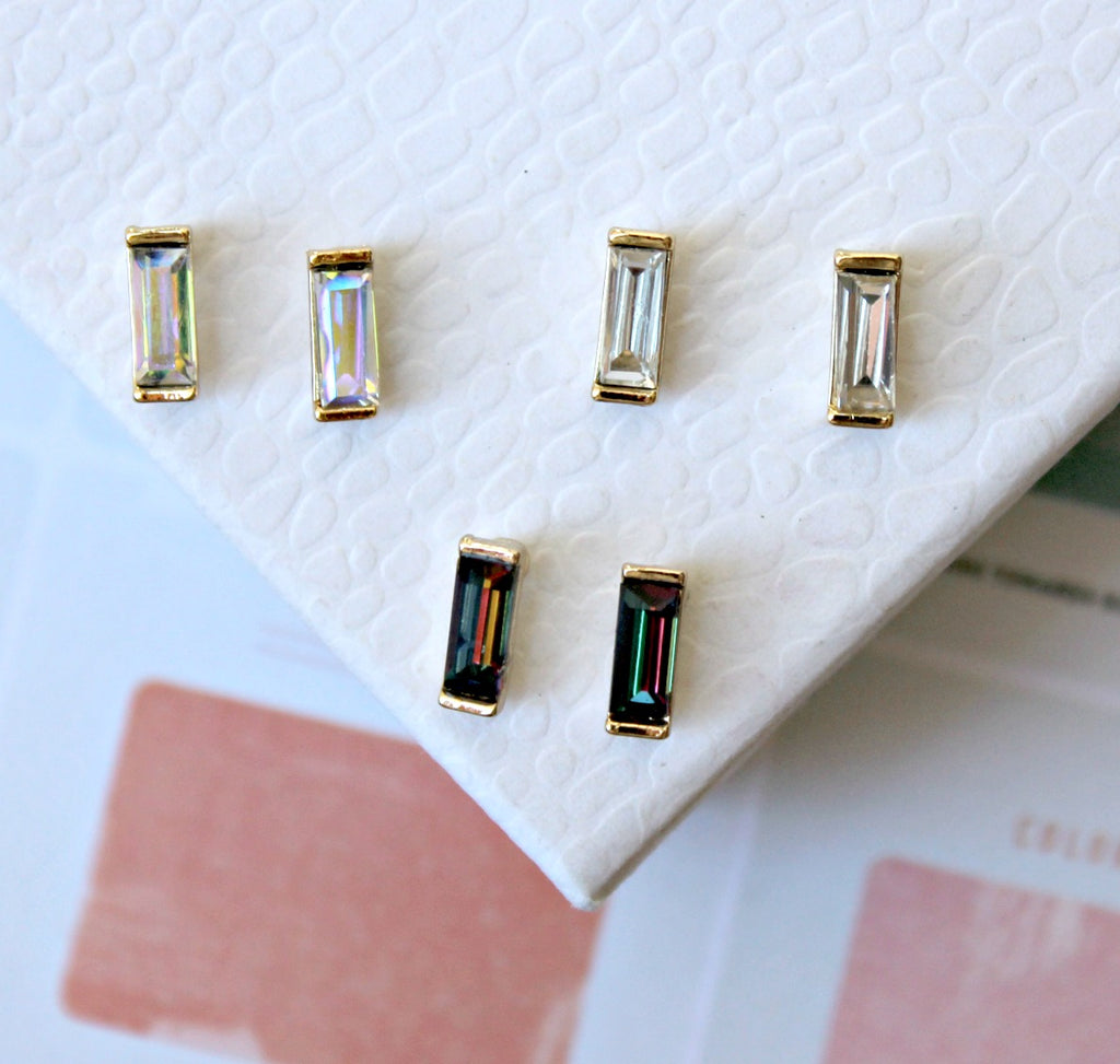 Three Piece Iridescent Studs - Dear Reverie
