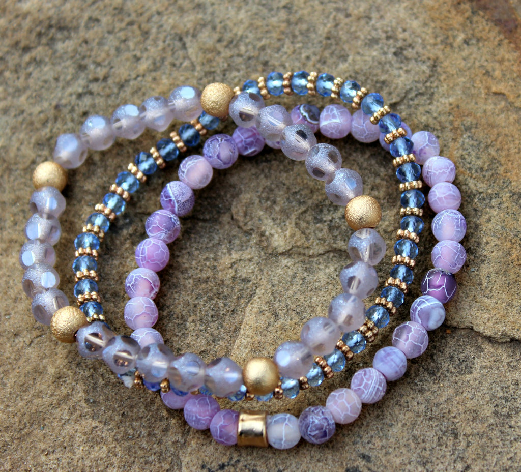 Lilac & Lavender Mix Bead Stacks - Dear Reverie