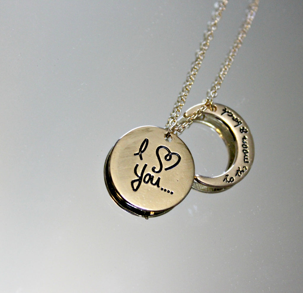I Love You to the Moon and Back Pendant Necklace - Dear Reverie