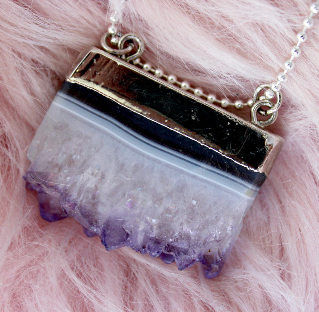Lavender Waves Stone Necklace - Dear Reverie