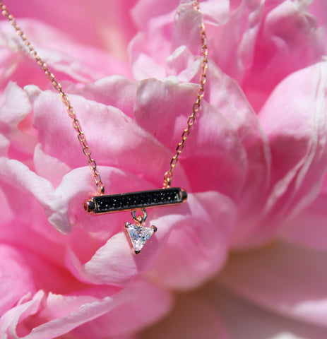 Raise the Bar Rose Gold Necklace