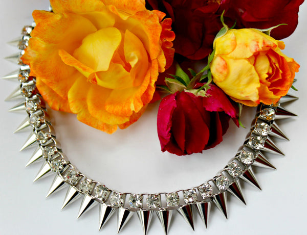 Silver Spike Bib Necklace - Dear Reverie