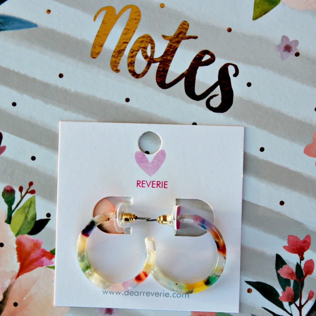 RESTOCK! Mini Multi Colored Hoop Earrings - Dear Reverie