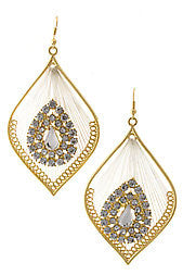 Teardrop Gold Earrings with Diamond Accents - Dear Reverie