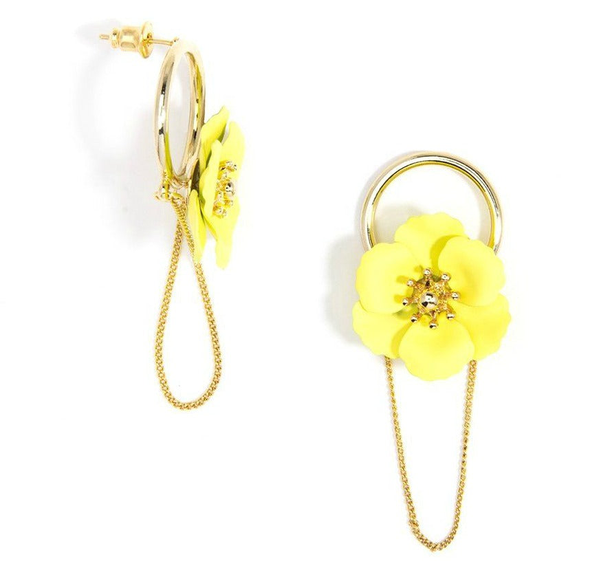 Yellow Poppy 18k Gold-Plated Earring - Dear Reverie