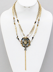 Beaded Tassel Necklace - Dear Reverie