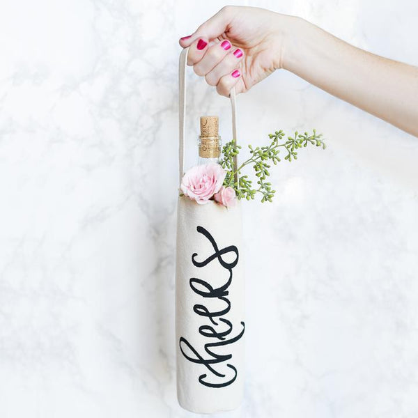 Cheers Wine Bag by Sweet Water Decor - Dear Reverie