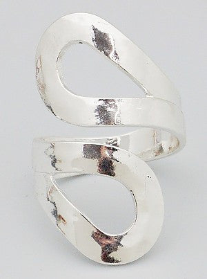 Hammered Silver Wrap Ring - Dear Reverie