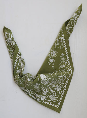 Endangered Botanical Bandana - Grass