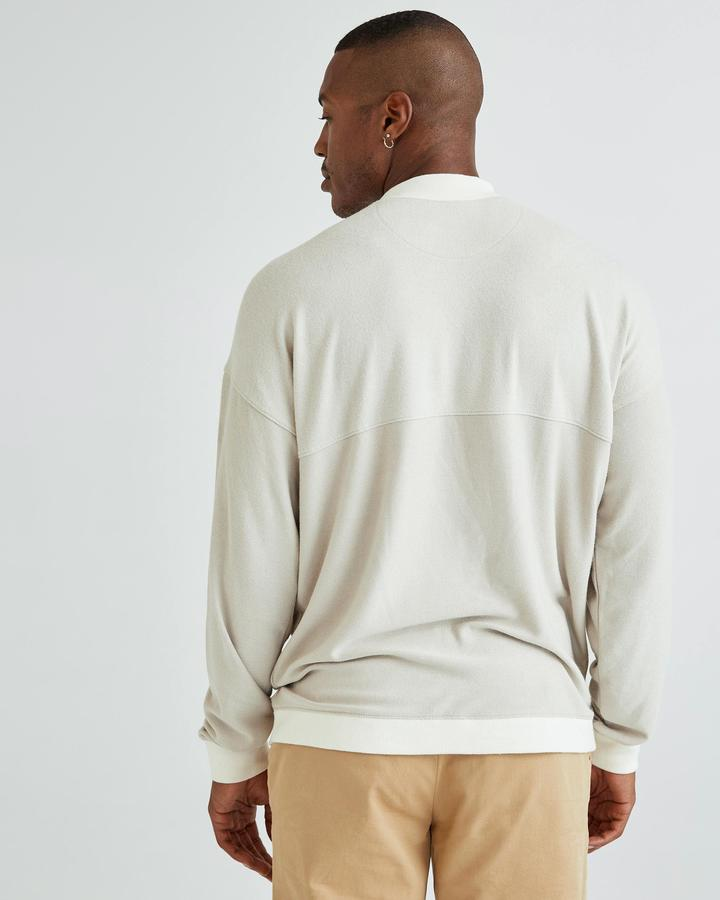 Men's Cozy Knit LS Sweater - Bone