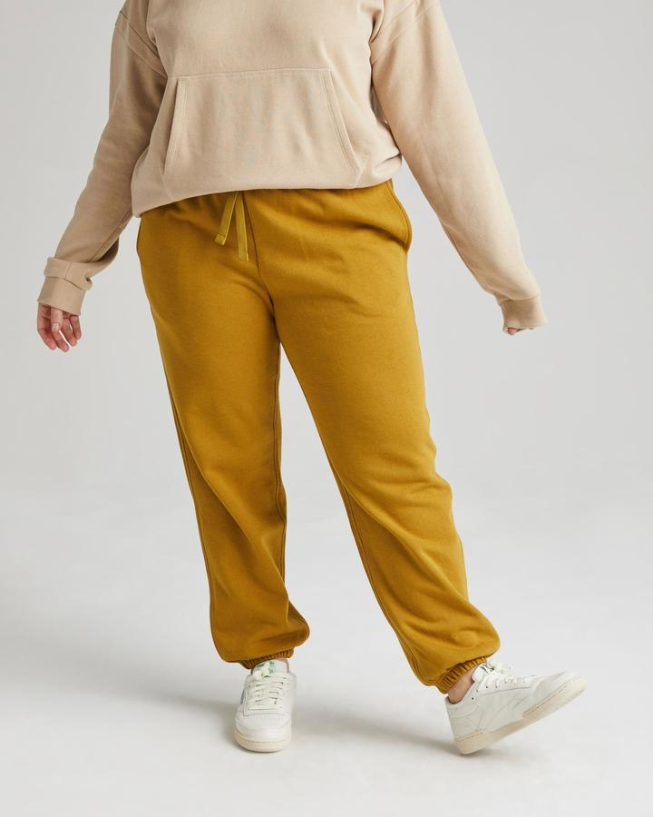 Recycled Fleece Sweatpant - Golden Verde