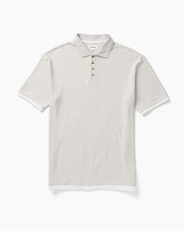 Men's Cozy Knit SS Polo - Bone
