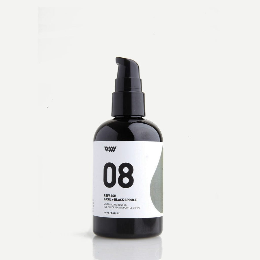 08 Moisturizing Body Oil: Basil + Black Spruce-Way Of Will-MONIKER GENERAL