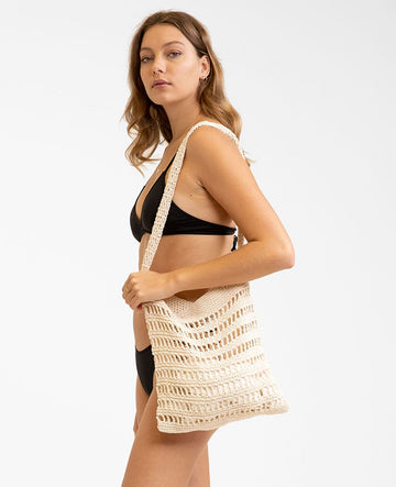 Macrame Market Bag - Cream